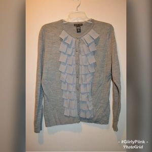 Wome's New York & Company Gray Sweater Cardigan